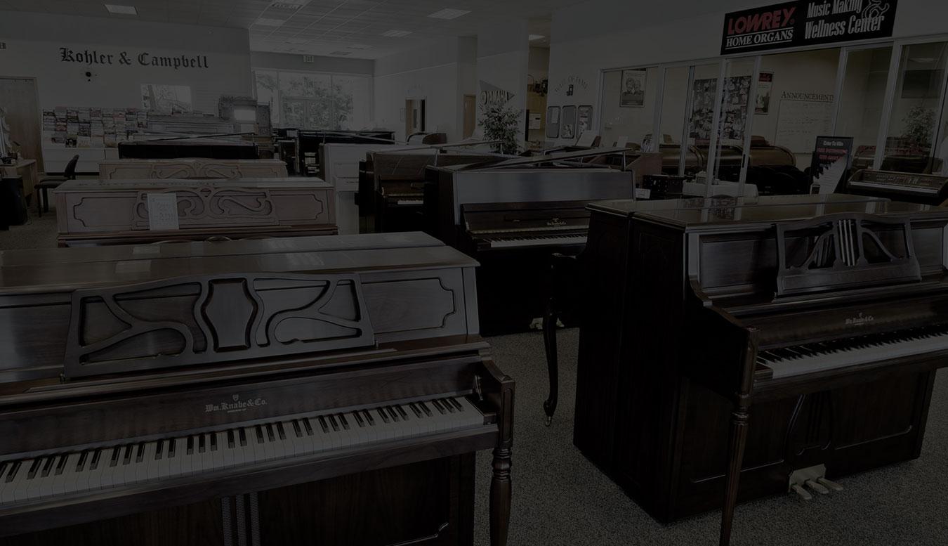 Ogden Piano Gallery Showroom Upright Slider