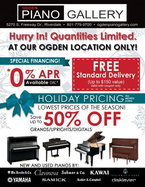 Black Friday Piano Sales in Ogden