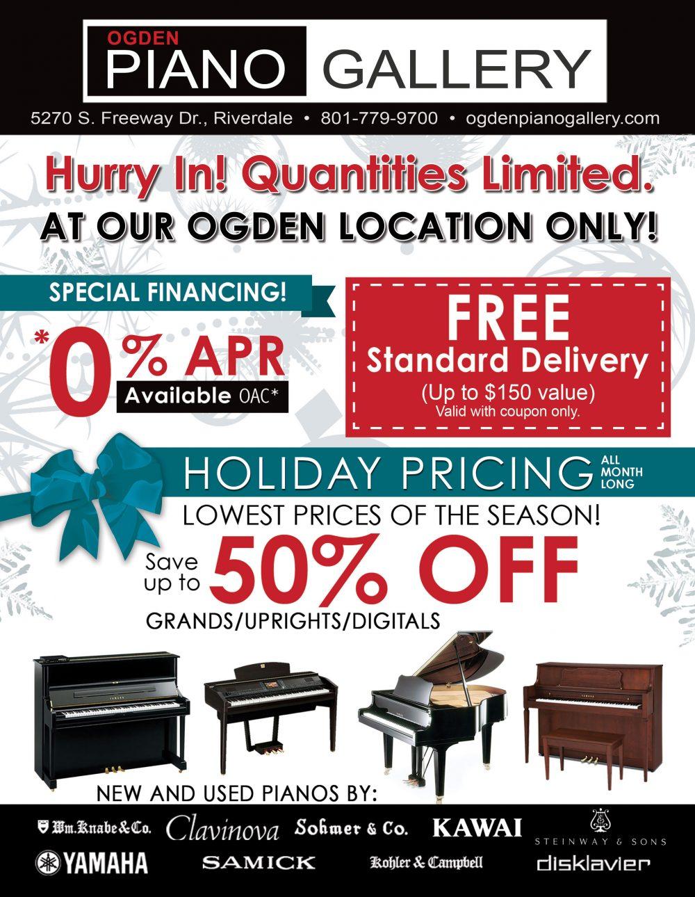 Ogden Piano Gallery Black Friday Sale Ad