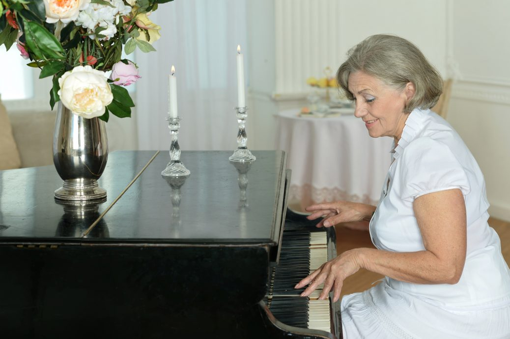 Playing a Piano as a Senior