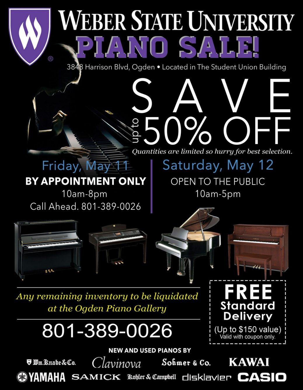 Weber State Piano Sale