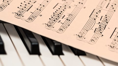Sheet Music on Piano for Lessons